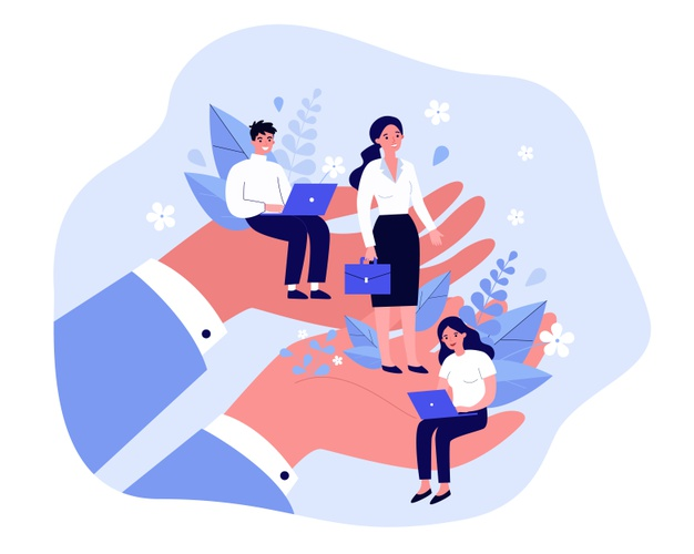 employees-care-concept-giant-human-hands-holding-supporting-tiny-business-professionals-illustration-trade-union-corporate-insurance-employees-wellbeing-benefits-topics_179970-2320