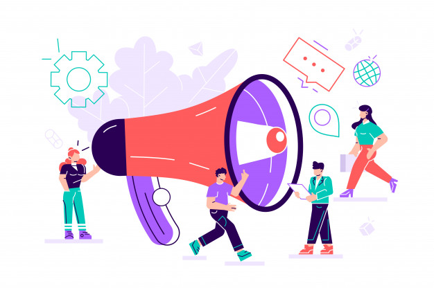 public-relations-affairs-marketing-team-work-with-huge-megaphone-alert-advertising-propaganda-speech-bubbles-social-media-promotion_126608-203